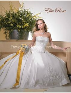 Cetim Sem Alças Baile Vestidos de Noiva