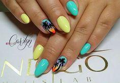 Wakacje palma blue nails