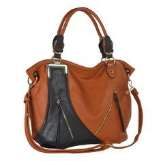 MG Collection GWEN Chic Dual-Tone Shopper Slouchy Hobo Shoulder Bag for only $39.99 You save: $25.00 (38%)