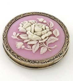 Cameo Compact Russian Hallmarked c1935-45 #antique #vintage #compact