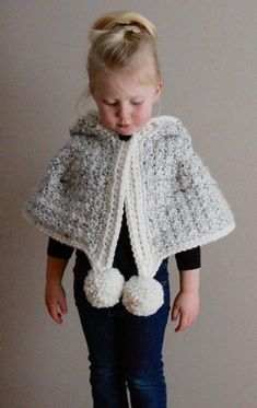 Ravelry: Brinley Cape pattern by Tracey Martin Crochet Wrap Pattern, Crochet Cape, Crochet Poncho Patterns, Knitting Patterns, Cape Pattern, Arm Knitting, Baby Sweaters, Crochet For Kids, Knit Beanie