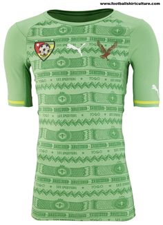 Togo 2014 Puma Away Football Shirt Football Outfits, Football Uniforms, Football Kits, Football Jerseys, Soccer Shirts, Sports Shirts, Classic Football Shirts, Jersey Atletico Madrid, Athletic Wear