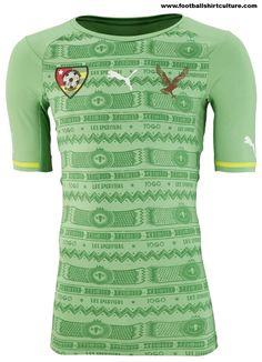 Togo-2014-Puma-Away-Football-Shirt-Kit-1 Classic Football Shirts, Vintage Football Shirts, Soccer Shirts, Sports Shirts, Football Kits, Football Jerseys, Jersey Atletico Madrid, Football Outfits, Athletic Wear