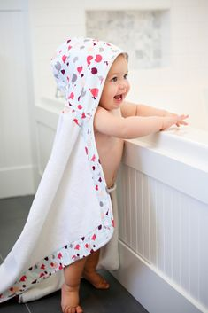 Not your average hooded baby towel! We love the extra large size and adorable print from @bebeaulait. #PNpartner