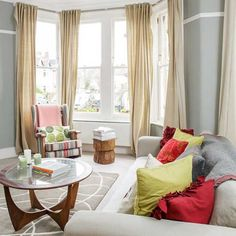 Bay window | Victorian end-of-terrace house | House tour | PHOTO GALLERY | Style at Home | housetohome.co.uk wall colour & coffee table