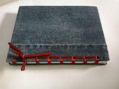 Minha agenda de cara nova com costura japonesa feita com fita de cetim!