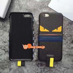 モンスター悪魔iPhone7 plusケース カップル向けアイフォン6plus革製質感保護カバー フェンディ