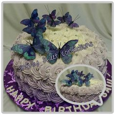 Butterfly Ombre Theme Cake