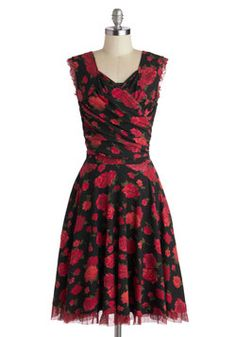 No Business Like Show Business Dress in Roses, #ModCloth Comes in Plus Sizes...as well as smaller sizes.