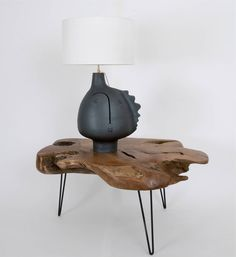 Large Ceramic and Sculptural Lamp-Base signed by DaLo | From a unique collection of antique and modern table lamps at https://www.1stdibs.com/furniture/lighting/table-lamps/