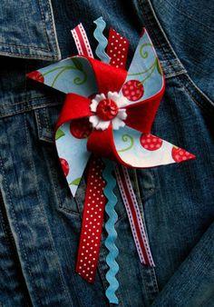 pinwheel jacket pin