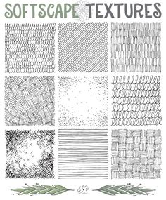 png Great ressource for ideas for drawing garden plans with beautiful textures Landscape Architecture Drawing, Landscape Sketch, Landscape Plans, Landscape Drawings, Landscape Design, Garden Design, Texture Sol, Soil Texture, Texture Drawing