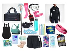 """Lacrosse bag essentials"" by eviemadeleine on polyvore Follow my Instagram eviemadeleine!"