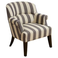 Features:  -Material: Fabric.  -Sturdy construction.  Chair Design: -Lounge chair.  Frame Finish: -Espresso.  Upholstered: -Yes.  Frame Material: -Wood/Manufactured wood.  Upholstery Color: -Faded Blu