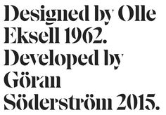 [REQUEST] Eksell Display (Olle Eksell - Lettersfromsweden) - PrintRoot Forums Stencil Font, Stencils, Typography Layout, Editorial Layout, Graphic Design, Type Design, Brand Identity, Olle Eksell, Display Lettering