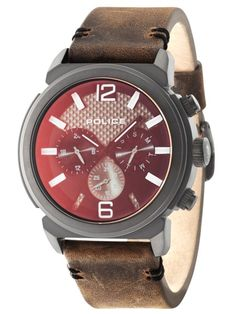 is amazing and popular by Police - a must-have product. Special outlet price for a limited time - don't miss out on this incredible deal! Police Watches, Smart Watch, Quartz, Band, Brown Leather, Concept, Steel, Products, Smartwatch