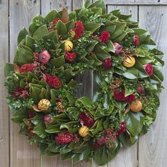 Circle Home and Design Christmas Wreaths, Christmas Decorations, Holiday Decor, Magnolia Wreath, Floral Wreath, Etsy Seller, Flora Botanica, Create, Porches