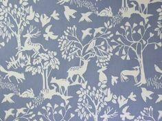 Clarke & Clarke Vilda Ice Blue fabric<br />We recommend a sample of this fabric if colour is important to you as colours on different screens may vary. Printed Curtains, Cotton Curtains, Curtain Fabric, Cotton Fabric, Painting Tile Floors, House Painting, Clarke And Clarke Fabric, Chambray Fabric, Curtain Patterns