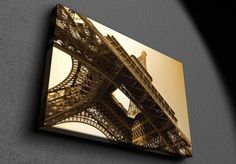 Eiffel Tower sepia toned - Canvas Canvas Frame, Tower, Rook, Computer Case, Building