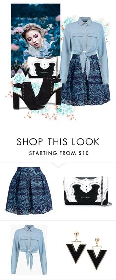 """""""Untitled #814"""" by brandi-gurrola ❤ liked on Polyvore featuring Maje, Givenchy and Boohoo"""
