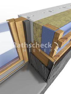 Rathscheck Schieferdetails - Schieferfassade-Ausfuehrung Fensterlaibung mit Schiefer