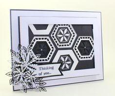 Happy Monday,   A strong Black and White card today using the centres of the Pacific Ocean collection. I simply love the way these tessel...