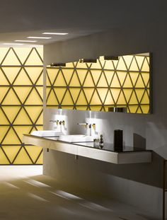 What do you think of this geometric stunner?  #bathrooms #design