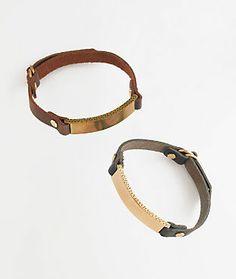 leather id bracelet // madewell