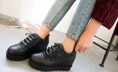 A027-BK, SIZE 34-39, WEDGE-3 Wholesale Shoes, Oxford Shoes, Wedges, Women, Fashion, Moda, Fashion Styles, Fashion Illustrations, Wedge
