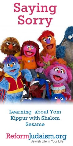 """Together with your children, watch the videos by Shalom Sesame to learn about saying """"sorry"""".  Then try some of the discussion ideas and activities below created by Reform Jewish educators to further extend the lessons learned in the videos."""