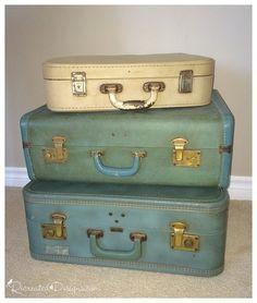 Vintage+Suitcase+Side+Table