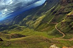 Sani Pass is the mountain path from the Drakensburg in South Africa into Lesotho. BelAfrique your personal travel planner - www.BelAfrique.com