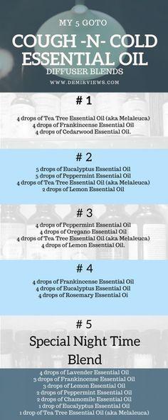 My 5 goto cough -N- cold essential oil diffuser blends
