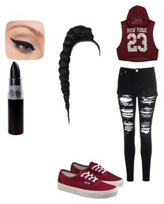 """""""Untitled #67"""" by dilynnjames ❤ liked on Polyvore featuring Forever 21, Glamorous, Vans and LORAC"""