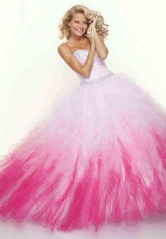Pink Cinderella Prom Dress