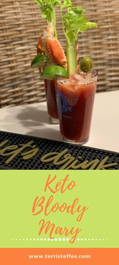 A lower in sugar cocktail that is delicious and doesn't pack a sugar punch.  #ketococktails #ketobloodymary #ketodrinks