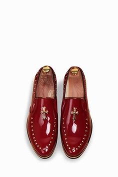 Burgundy Cross Studded Brogue Shoes appmen metafiltercolorburgundy modern is part of Brogue shoes - Oxford Shoes Heels, Patent Shoes, Men's Shoes, Shoe Boots, Dress Shoes, Shoes Men, Flats, Shoes Style, Men's Style
