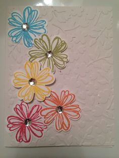 Pretty stampin up card.