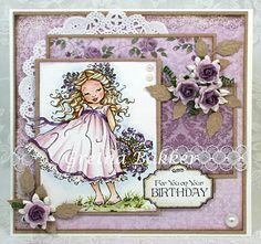 Het kaartenhoekje van Gretha: Mo Manning `Alisa with Roses` Pretty Cards, Cute Cards, Penny Black Cards, Mo Manning, Birthday Cards For Women, Hobby House, 3d Cards, Scrapbooking, Paper Pumpkin