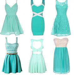 Turquoise is the color of the summer.