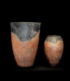 Egyptian black-topped pottery jars Predynastic Period, Naqada I-II, circa 4000-3200 B.C.