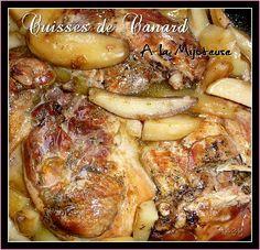 Cuisses de Canard à la Mijoteuse... - Sucre et sel d'Angy Pot Roast, Sheet Pan, Crockpot, Slow Cooker, Pork, Meat, Chicken, Cooking, Ethnic Recipes