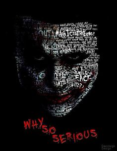 joker face #Typography (why so serious??)