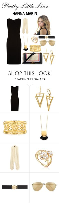 """""""Sem título #22"""" by knfelipegarcia on Polyvore featuring Chanel, BOSS Hugo Boss, TOUS, Konstantino, Madewell, Isabel Marant, Versace e Le Specs"""