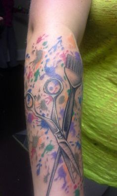 Hairdresser tattoo