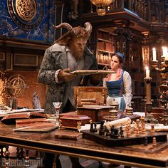 Dan Stevens as The Beast and Emma Watson as Belle in the 'Beauty and the Beast' live-action remake.