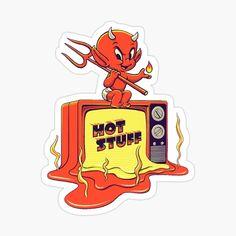 Preppy Stickers, Cool Stickers, Devil Aesthetic, Red Aesthetic, Bff Tats, Neck Tattoo For Guys, Dark Evil, Devil Tattoo, Cartoon Profile Pics