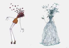 Alexander McQueen fashion illustration x
