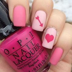95 best valentine's day nails images  heart nail art