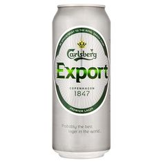 Carlsberg Export Beer can - Case of 24 Beers Of The World, Beer Packaging, Alcoholic Drinks, Good Things, Canning, Happy 2017, Copenhagen, Lettering, Shopping